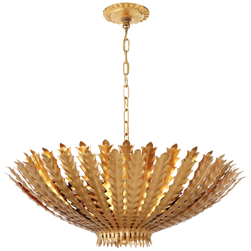 AERIN Hampton Gold Gilded Large Ceiling Pendant Light