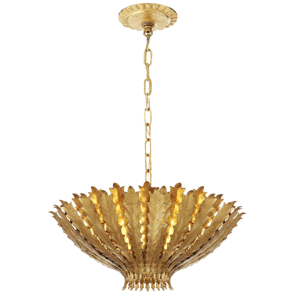 AERIN Hampton Small Ceiling Pendant Light Gold Gilded