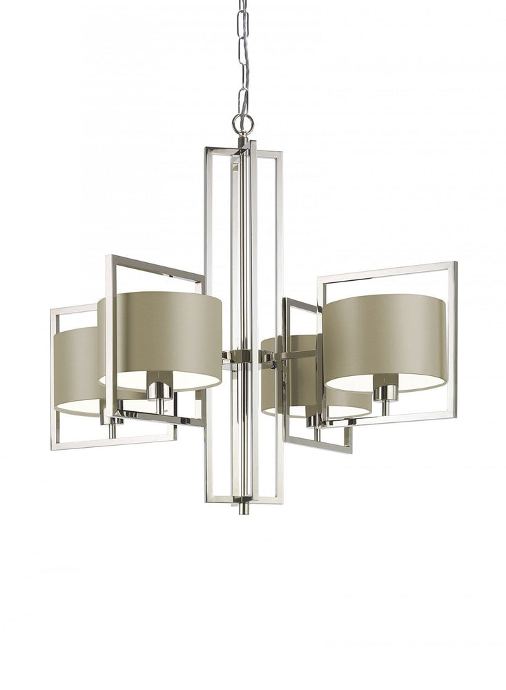 Heathfield Conniston Nickel Pendant Ceiling Light - Decolight Ltd