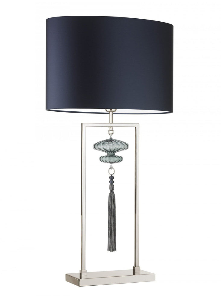 Heathfield Constance Nickel Opal Jade Table Lamp