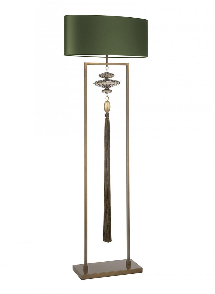 Heathfield Constance Antique Brass Gold Floor Lamp*
