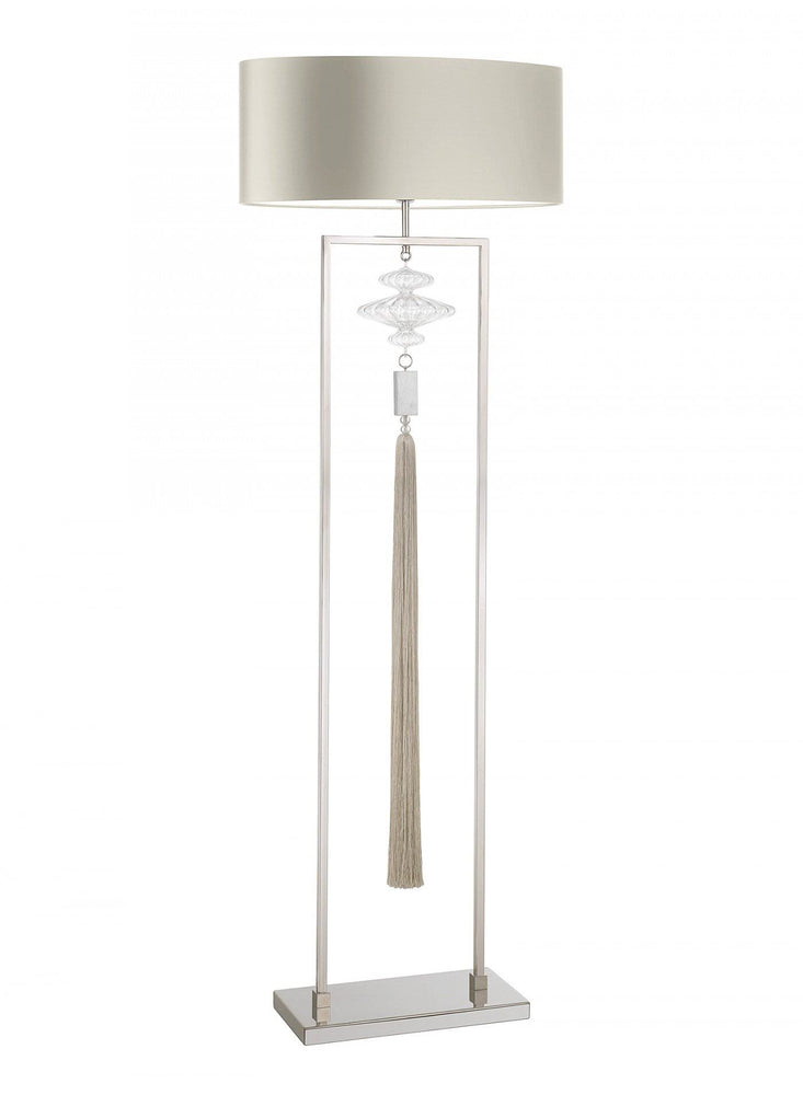 Heathfield Constance Nickel and Clear Floor Lamp *