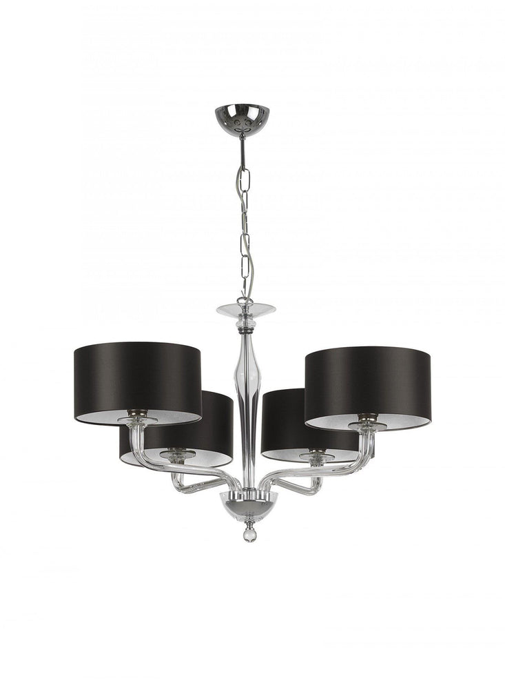 Heathfield Czarina Clear Crystal 4 Arm Chandelier ( Ceiling Light ) - Decolight Ltd