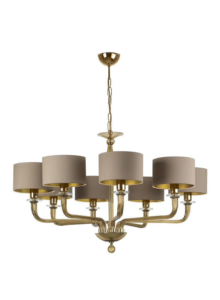Heathfield Czarina Gold 8 Arm Chandelier