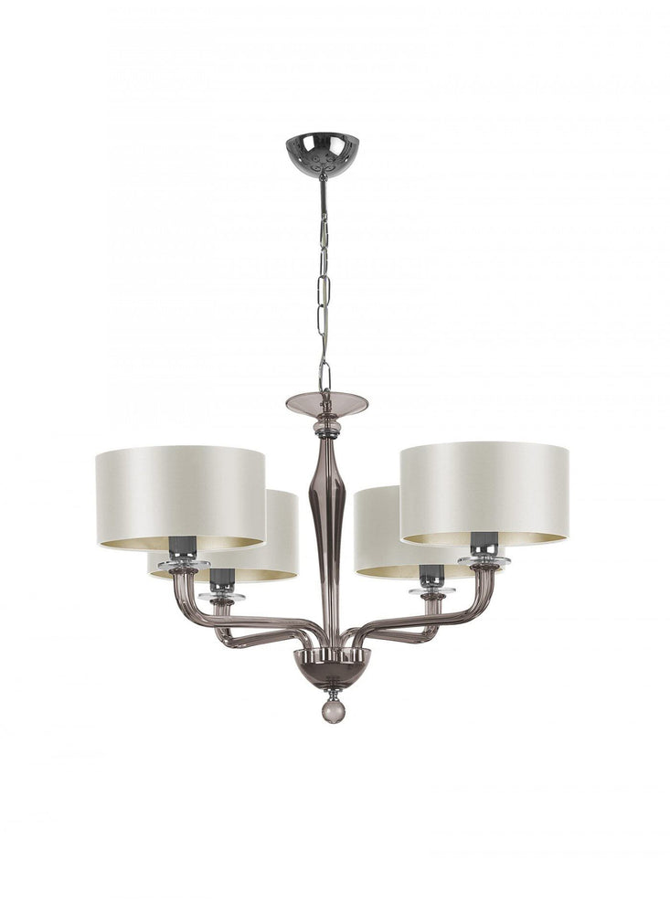 Heathfield Czarina Smoke 4 Arm Chandelier luxury Lights