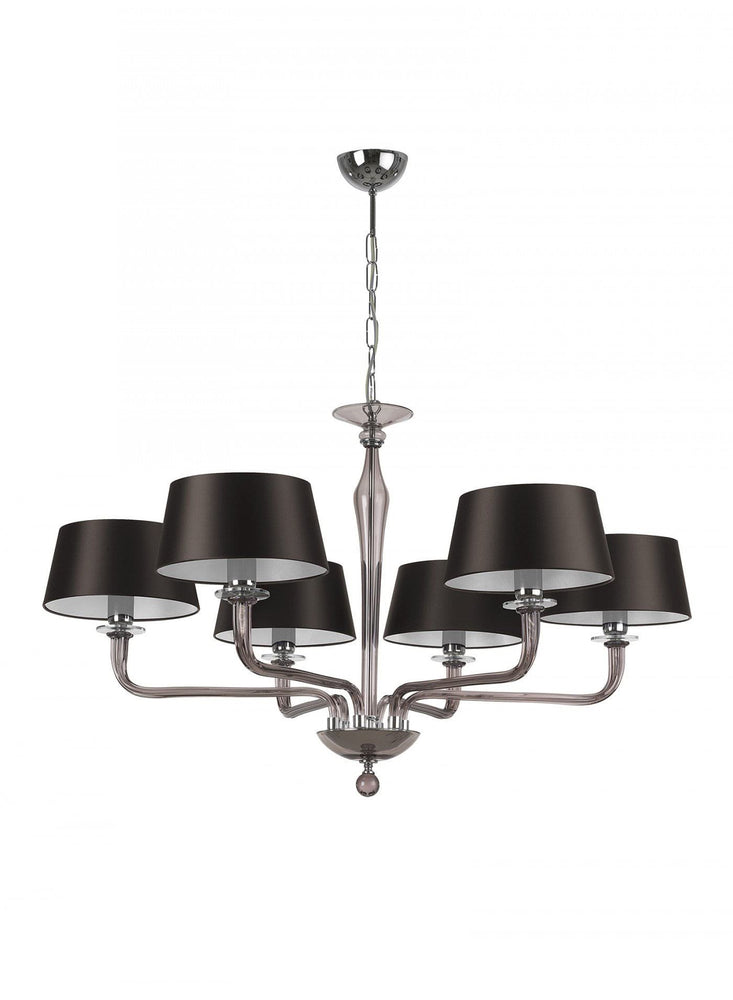 Heathfield Czarina Smoke 6 Arm Chandelier Luxury Lights
