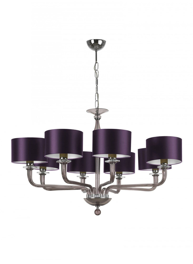 Heathfield Czarina Smoke 8 Arm Chandelier