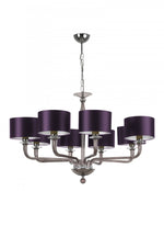 Heathfield Czarina Smoke 8 Arm Ceiling Chandelier - Decolight Ltd