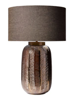 Decolight Heathfield & Co Ferm Table Lamp in Bronze & Khaki TL-FERN-ABRS-BRNZ