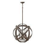 Decolight Carson Vintage Iron 3 Light Exterior Pendant