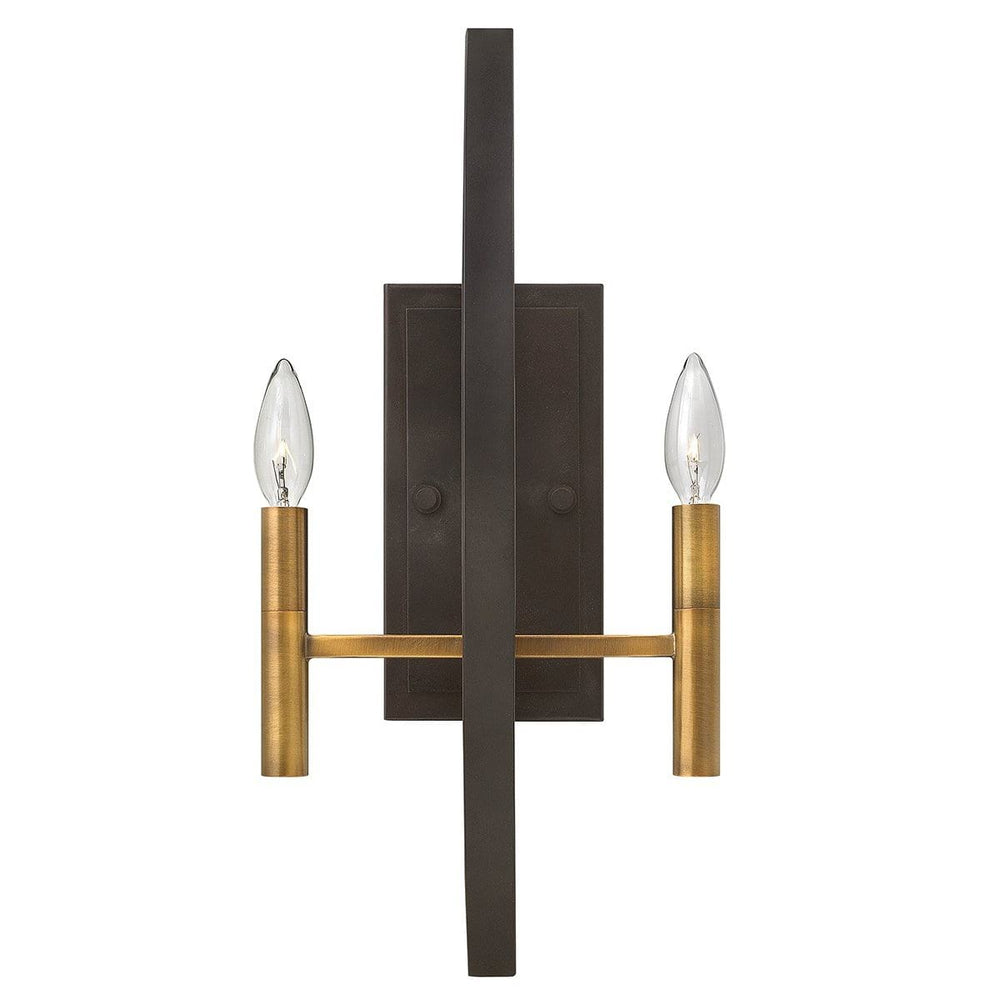 Decolight Euston Bronze 2 light Wall Light
