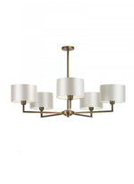 Heathfield Holt Pendant Ceiling Light 5 Arm Antique Brass