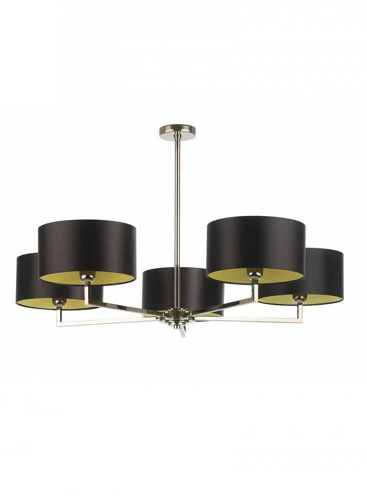 Heathfield Holt Pendant Ceiling Light 5 Arm Nickel