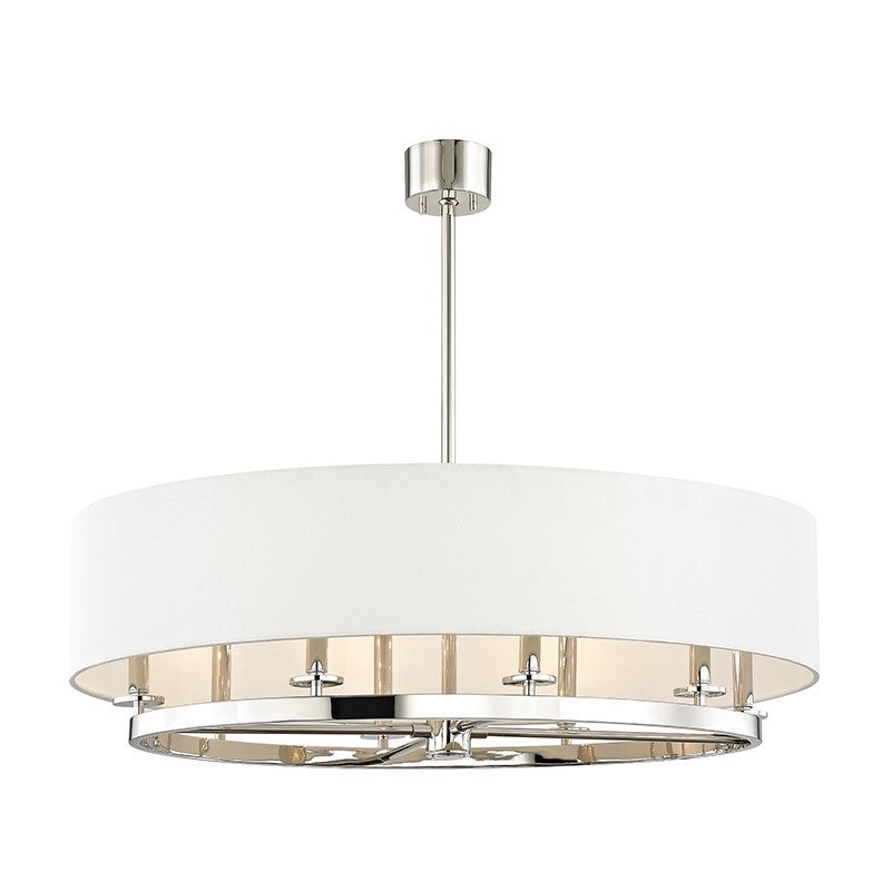 Hudson Valley Durham Oval  Polishes Nickel Ceiling Pendant - Decolight Ltd