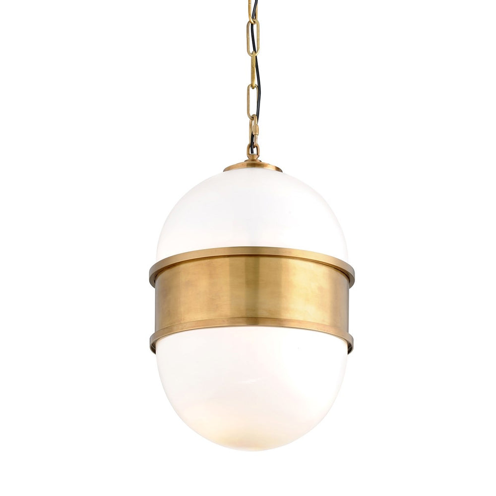 Mitzi Lighting Broomley Vintage Brass Pendant Ceiling Light - Decolight Ltd