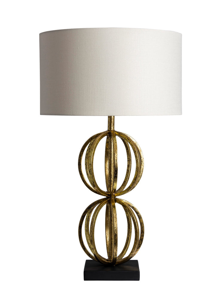 Heathfield & Co Rollo Antique Gold Table Lamp - Decolight Ltd