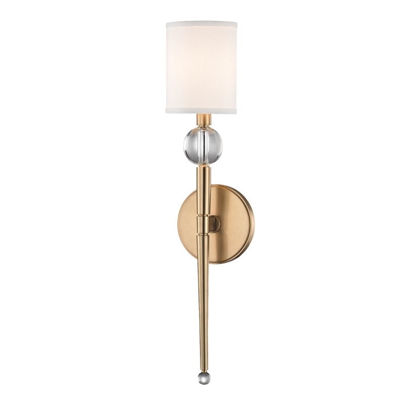 Hudson Valley Rockland Aged Brass Wall Light