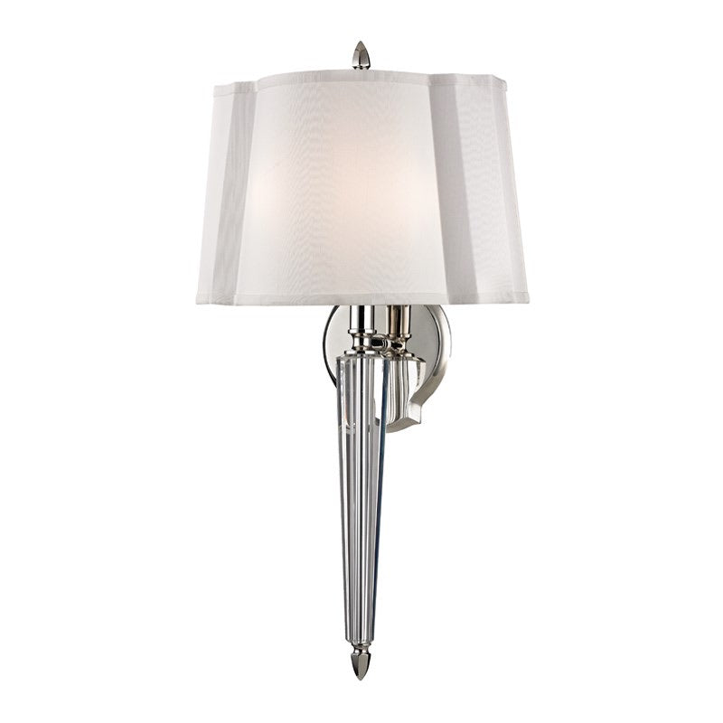 Hudson Valley Ruskin Polished Nickel Wall Light