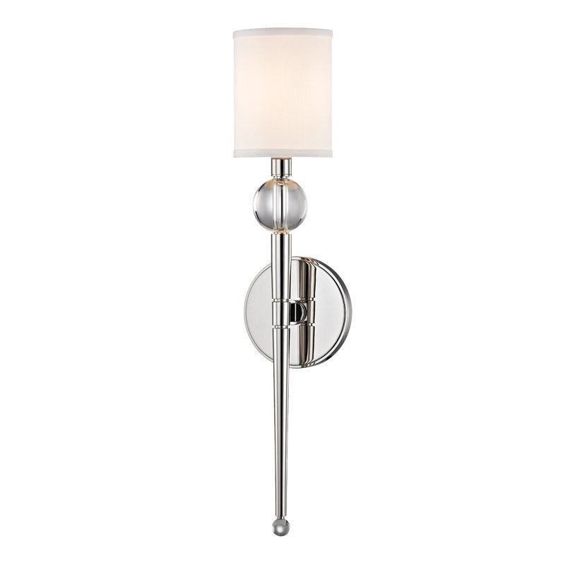 Hudson Valley Rockland Polished Nickel Small Wall Light