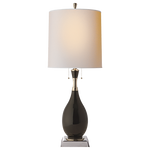 Tamaso Table Lamp in Black Crackle Porcelain by Thomas O'Brien - Decolight Ltd