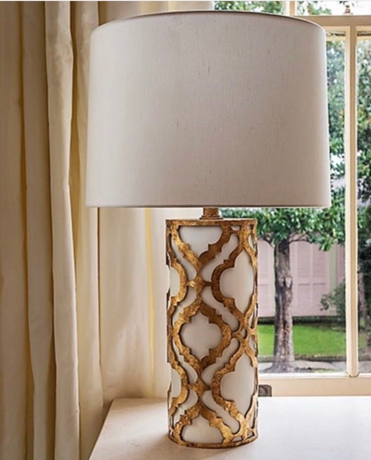 Decolight Balla Distressed Gold Table Lamp - Decolight Ltd