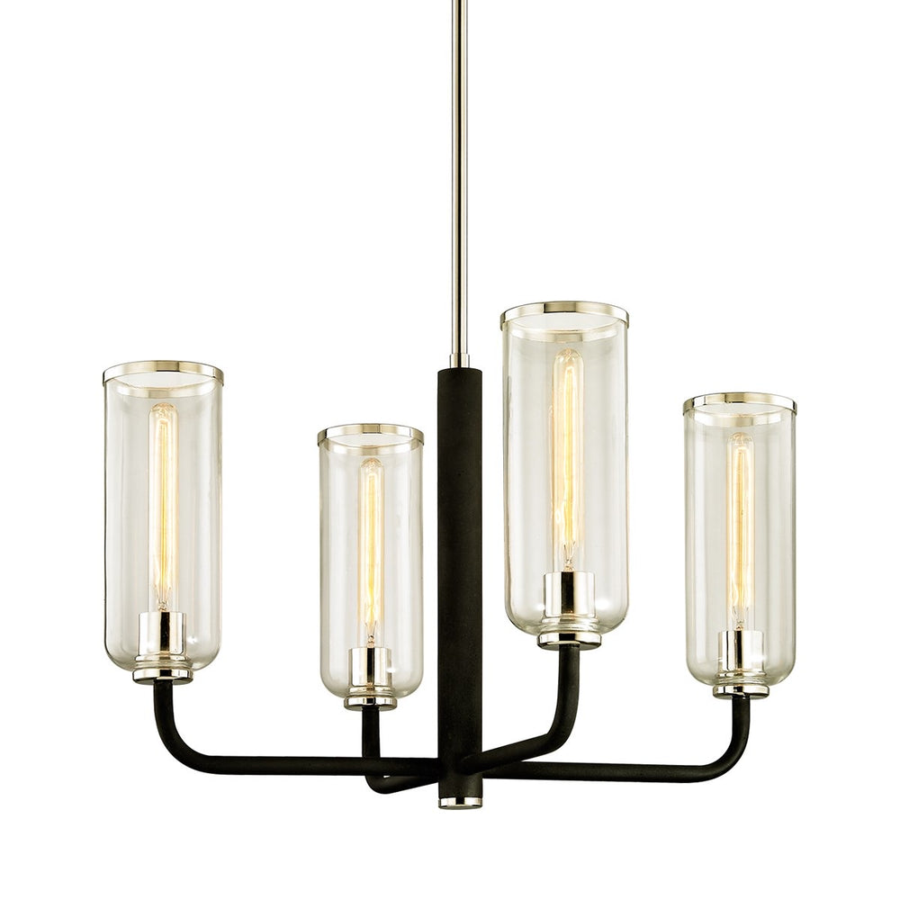 Hudson Valley Aeon Carbide Black And Polished Nickel Ceiling Light - Decolight Ltd
