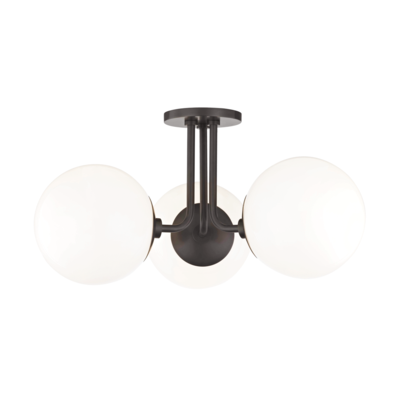 Mitzi Lighting Stella Old Bronze Semi Flush Ceiling Light