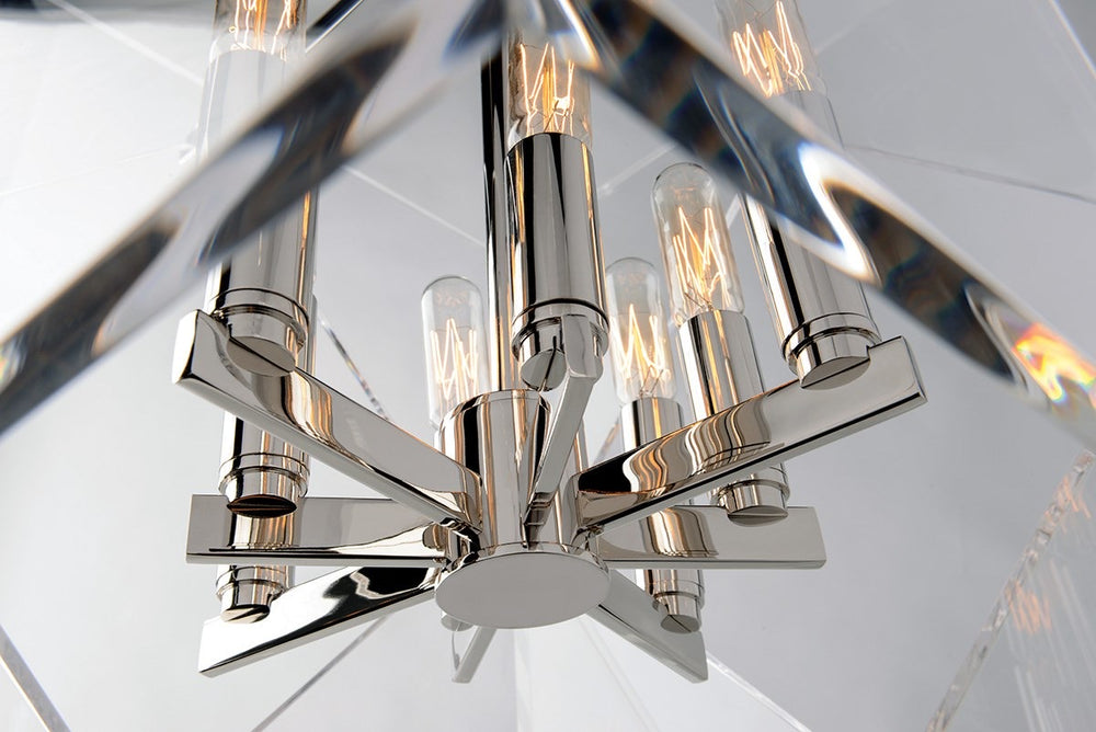 Hudson Valley Large Polished Nickel Travis Ceiling Pendant - Decolight Ltd