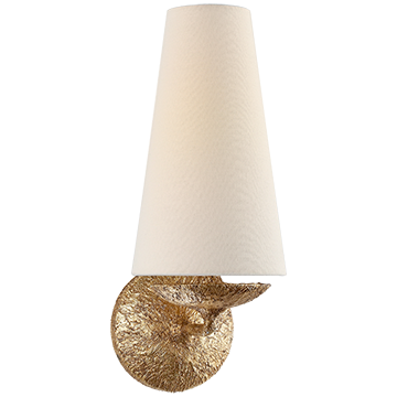 Fontaine Single Gilded Wall Light Sconce - Decolight Ltd