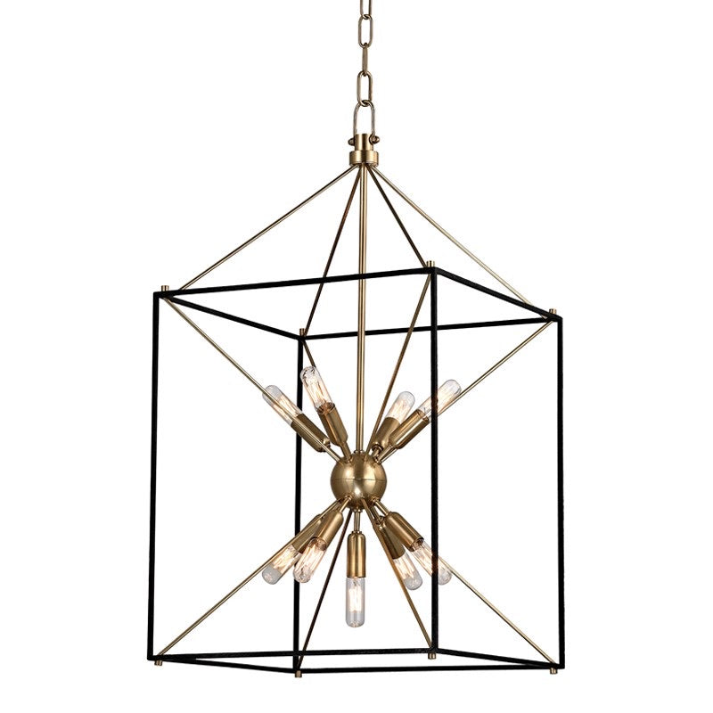 Hudson Valley Medium Aged Brass Glendale Ceiling Pendant - Decolight Ltd
