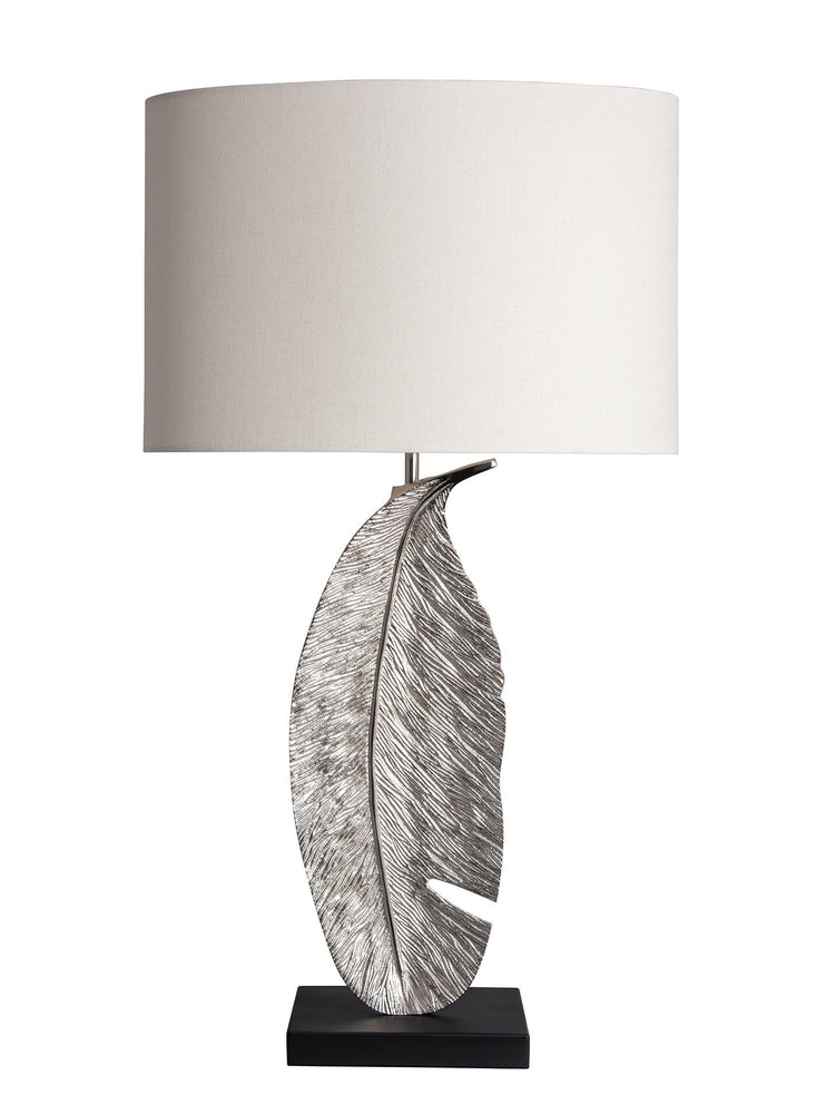 Heathfield & Co Leaf Nickel Table Lamp