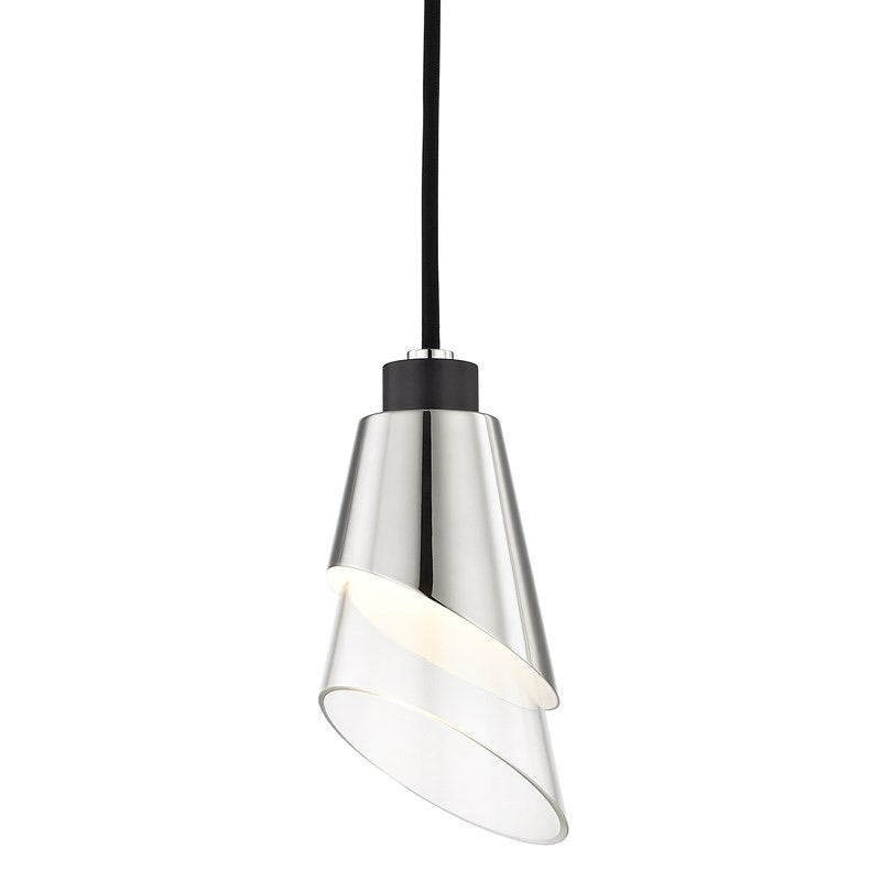 Mitzi Lighting Angie Polished Nickel/Black Pendant Ceiling Light
