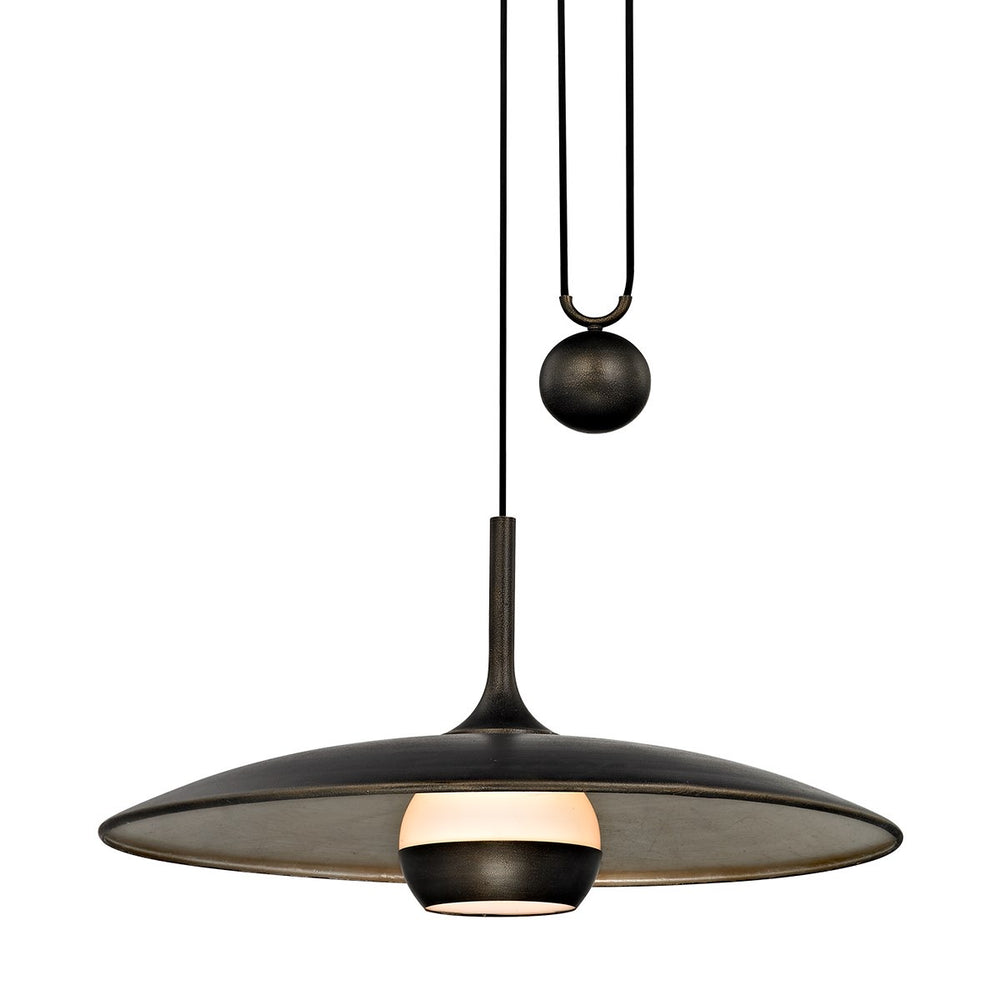 Troy Lighting Large Alchemy Vintage Bronze Champagne Sil Ceiling Light