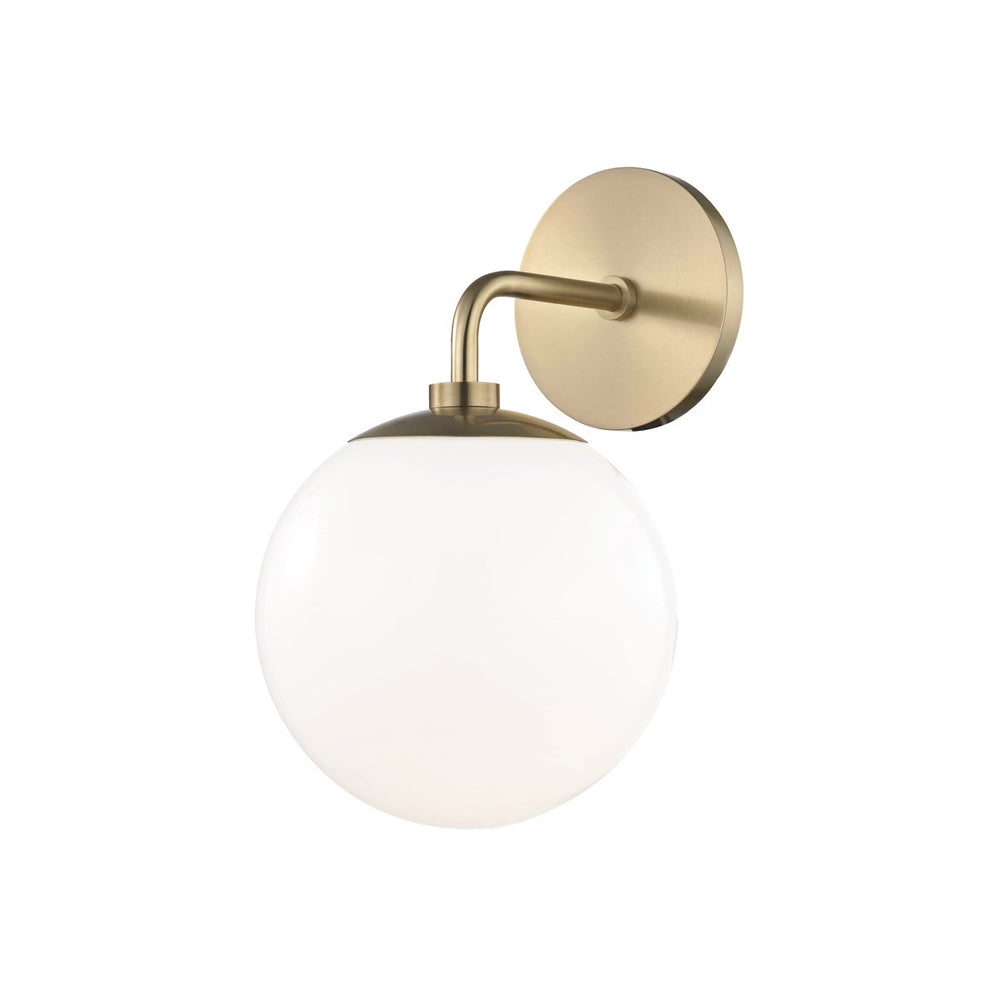 Mitzi Lighting Stella Aged Brass Wall Light - Decolight Ltd