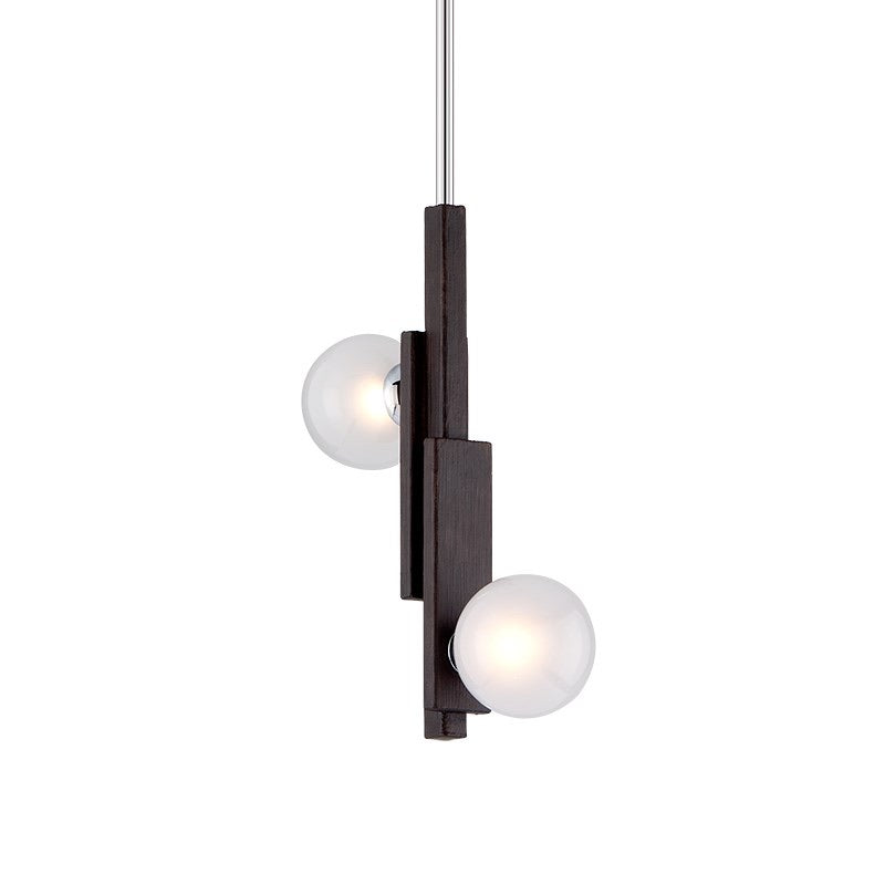 Hudson Valley Network Forest Bronze & Polished Chrom Ceiling Light - Decolight Ltd