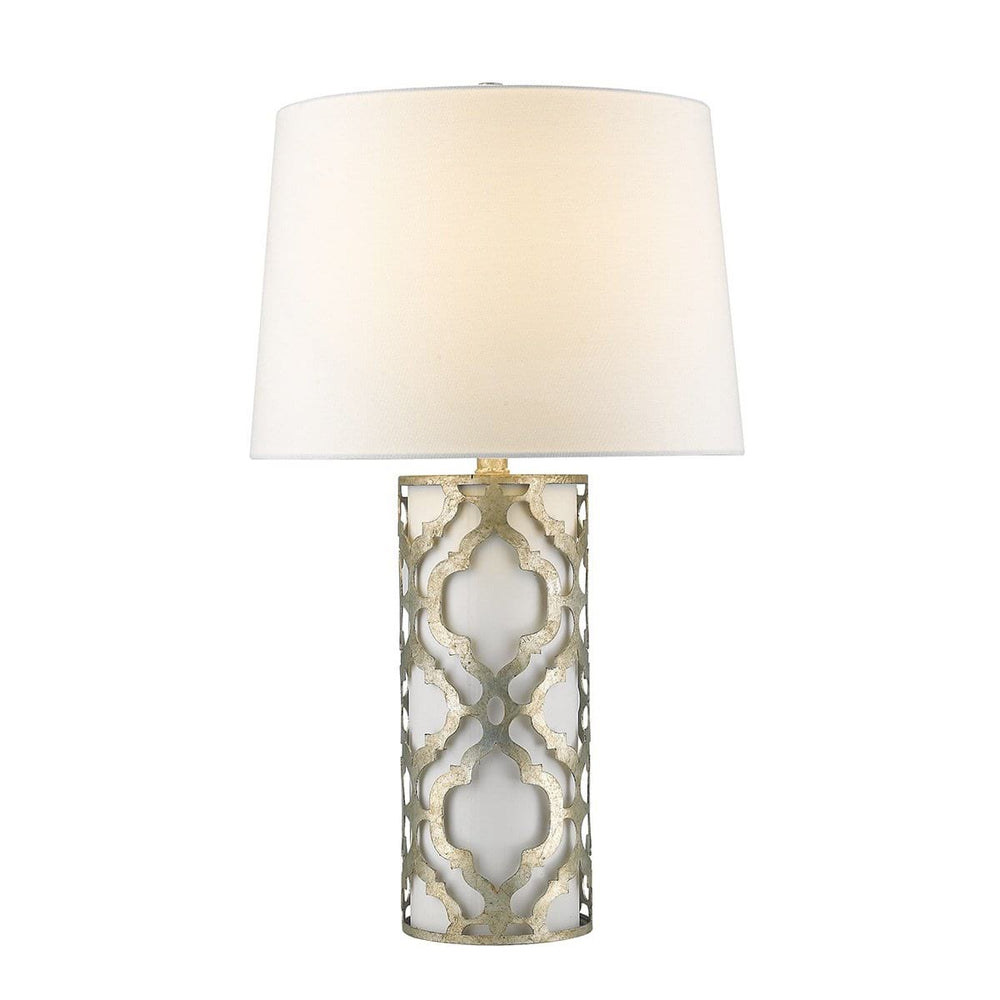 Decolight Arabella Distressed  Silver Table Lamp