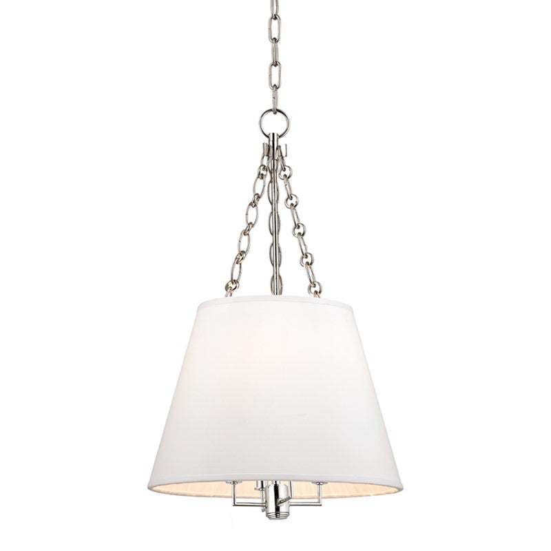 Small Hudson Valley Polished Nickel Burdett Ceiling Pendant