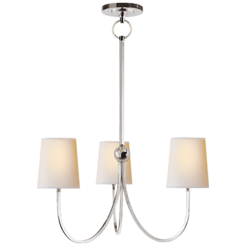 Visual Comfort Reed Small Chandlier In Polished Nickel - Decolight Ltd