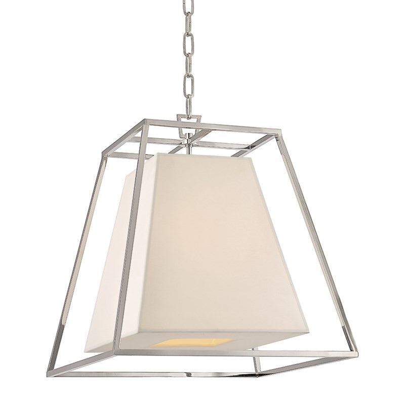 Large Hudson Valley Polished Nickel Kyle Ceiling Pendant