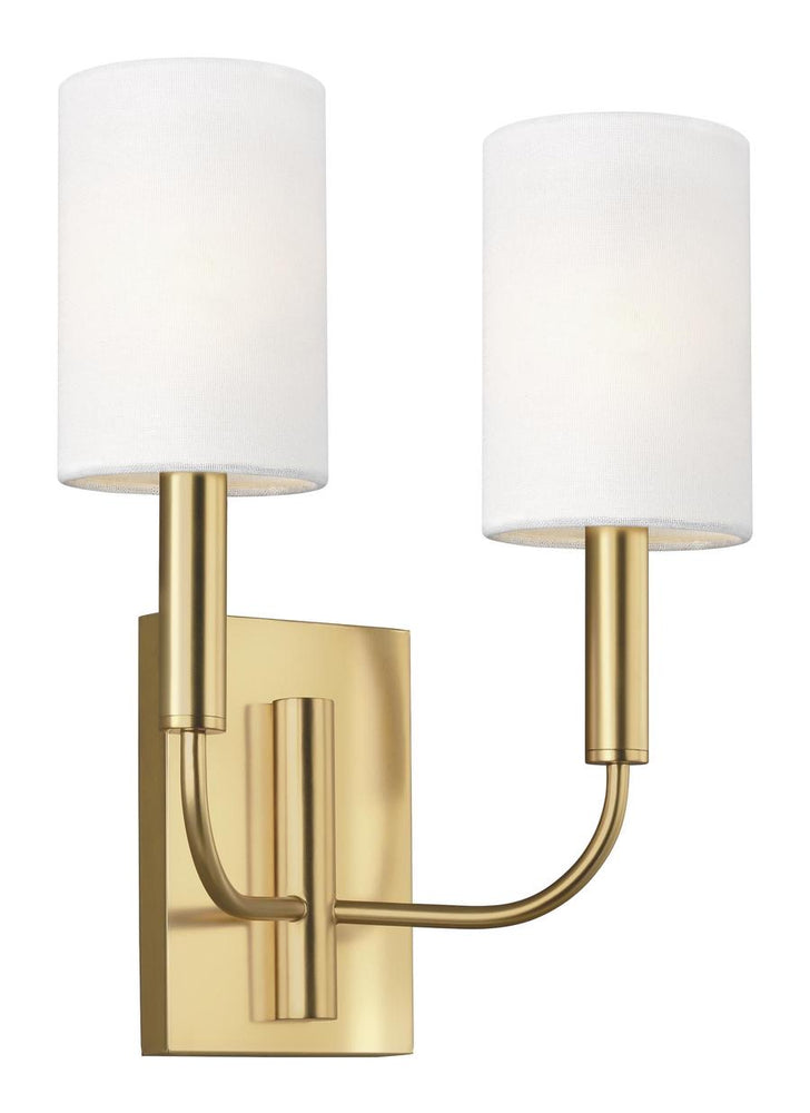 Decolight Brianna Burnished Brass Double Wall light - Sconce