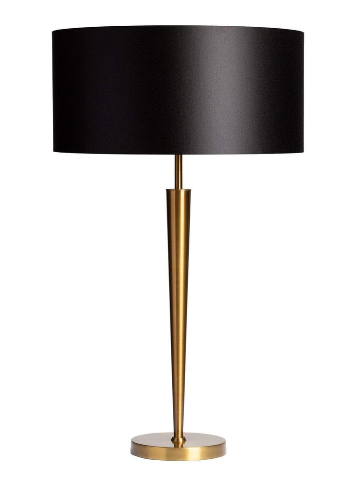 Heathfield & Co Torchere Aged Brass Table Lamp - Decolight Ltd