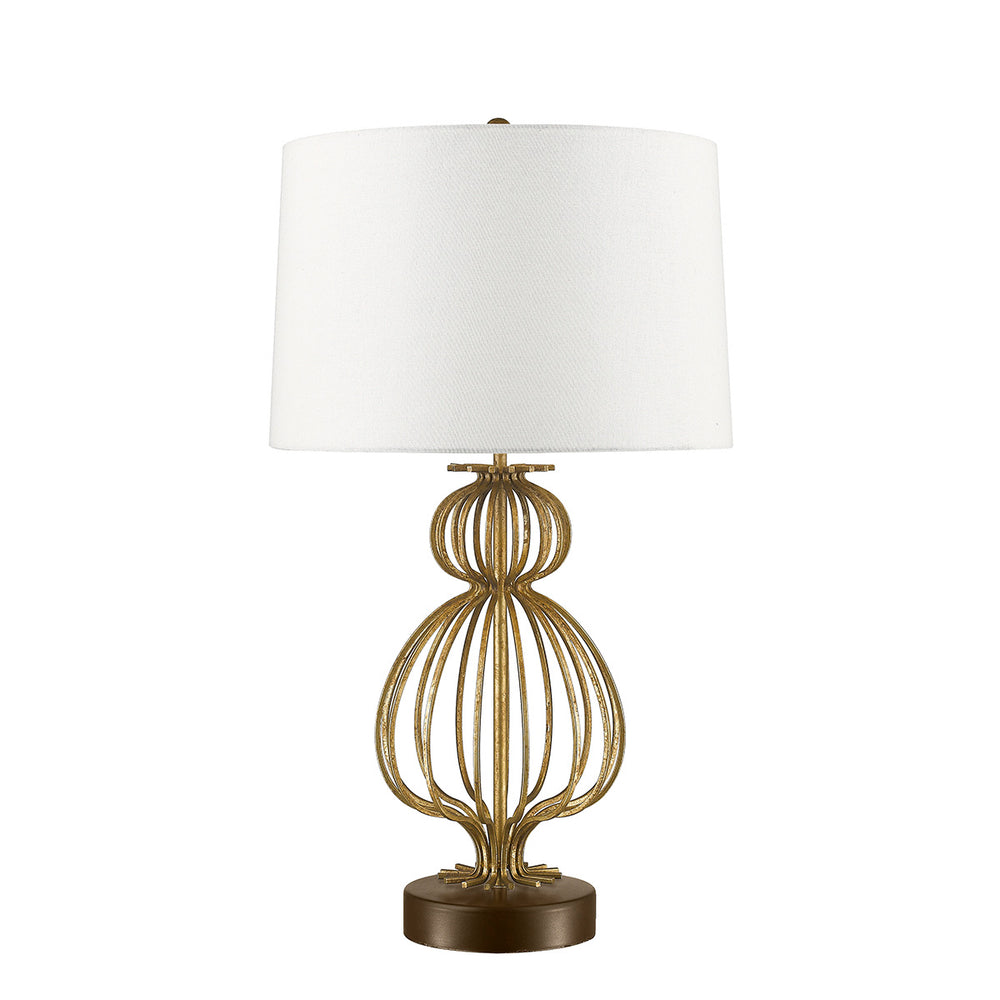 Decolight Nola Distressed Gold Table Lamp - Decolight Ltd