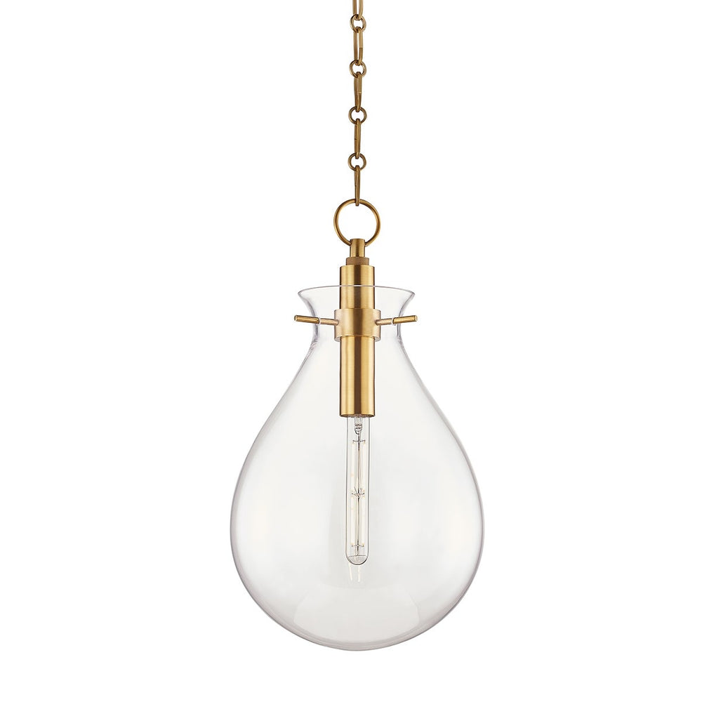 Hudson Valley Ivy Aged Brass Medium Ceiling Pendant - Decolight Ltd