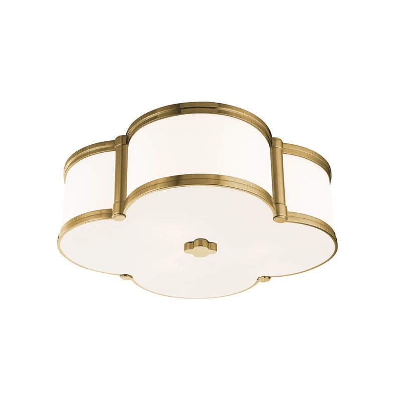 Hudson Valley Aged Brass Chandler Flush Mount Ceiling Light
