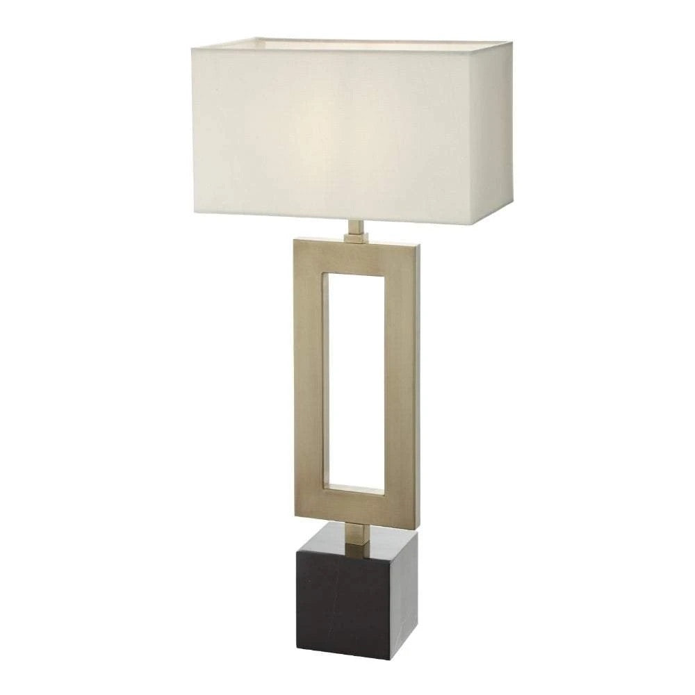 Decolight Keeva Aged Brass and Mable Table Lamp - Decolight Ltd
