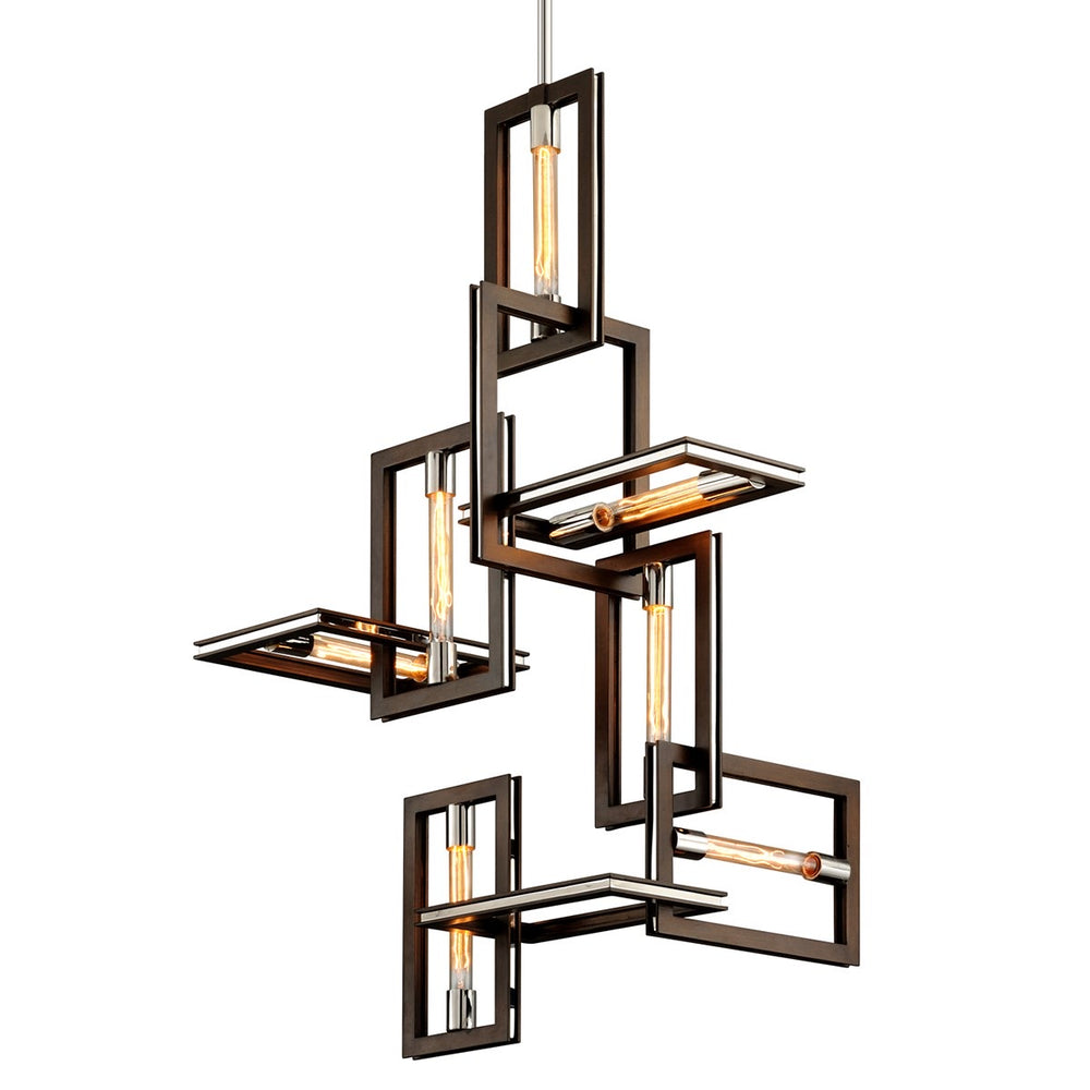 Hudson Valley Enigma Bronze With Polished Stainless Ceiling Light
