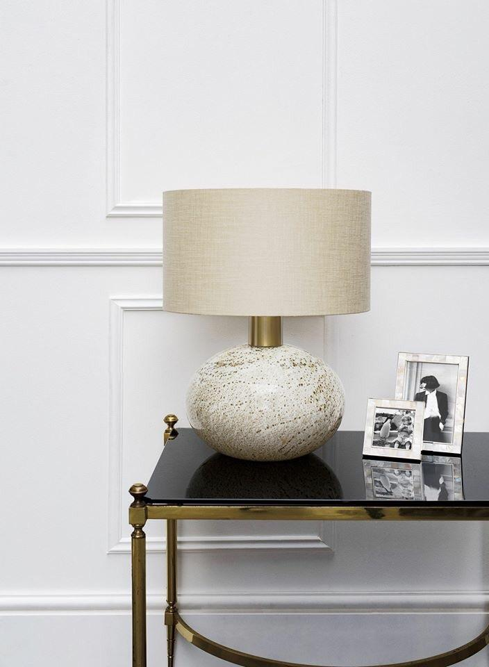 Heathfield Orion Suede Table Lamp
