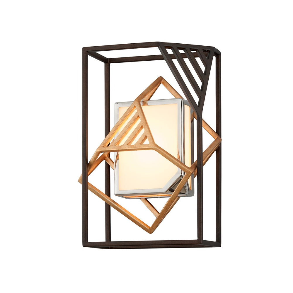 Troy Lighting Cubist Deep Bronze Wall Light