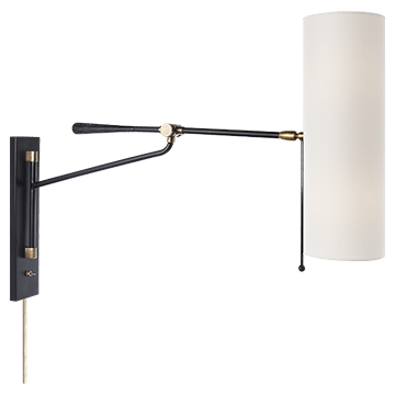 AERIN Frankfort Wall Light Black and Brass