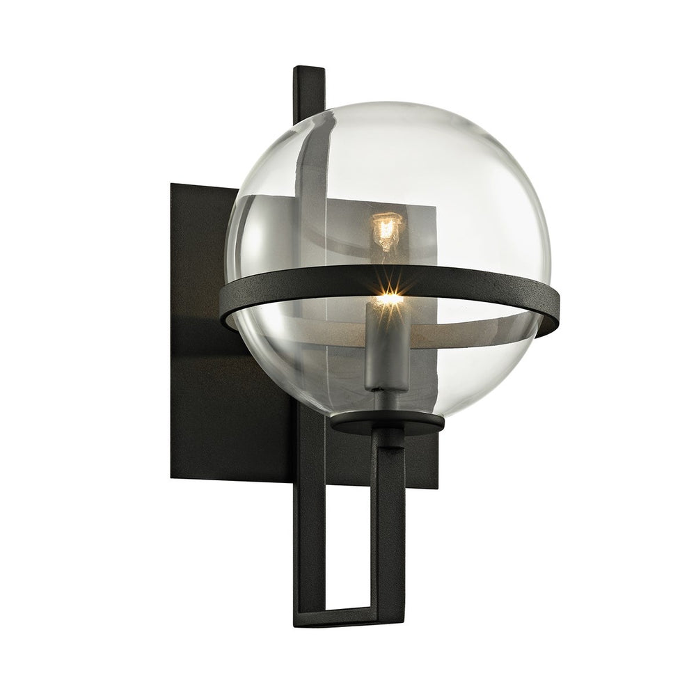Troy Lighting Elliot Textured Black Wall Light